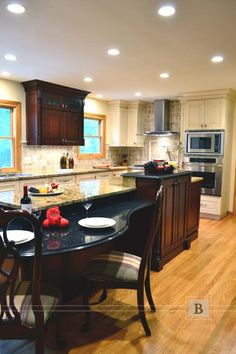 Stained and Painted Cabinetry  Traditional Style