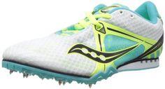 Saucony Women's Velocity Track Shoe,White/Blue/Citron,7 M US Saucony http://www.amazon.com/dp/B00CWBAII4/ref=cm_sw_r_pi_dp_qfz4ub02BMB0Z