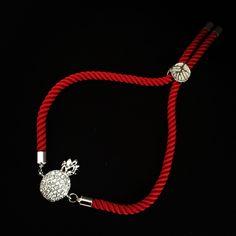 Červený zirkónový náramok s ananásom, MBZ004 Pandora Charms, Charmed, Bracelets, Jewelry, Jewerly, Jewlery, Schmuck, Jewels, Jewelery