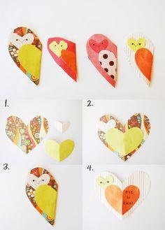 My Owl Barn: DIY: Owl and Fox Valentine Cards