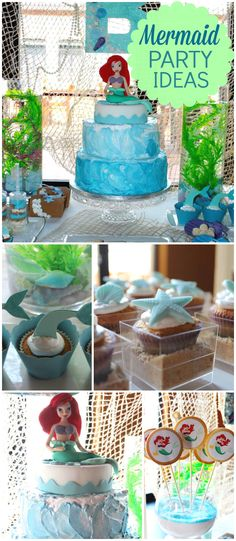 Such stunning desserts at this Little Mermaid party! See more party ideas at CatchMyParty.com!