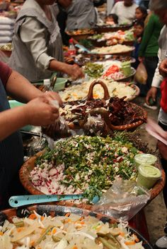Salsas en el Mercado de Cholula.