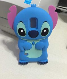 3D Cartoon Life Funny New Blue Stitch Silicone Case Cover For Samsung galaxy S5 mini G800 Free Shipping