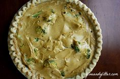 Vegan Quiche with Broccoli and Spring Onions