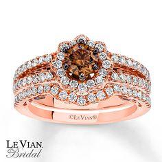 Le Vian Chocolatier 14k Strawberry Gold Bridal Set 7 8 Ct Tw Diamonds Jewelry Pinterest Sets And Diamond