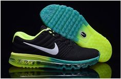 new style 575ae fcf73 Nike Air Max 2017 Mens running shoes Black blue fluorescent green0 Air Max  2, Nike