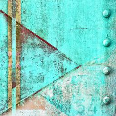 Turquoise Photograph - Pointing Right To Rivets by Carol Leigh