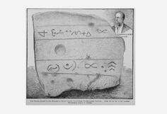A Nephilim giant's grave is opened in Ohio that contained a tablet with a Biblical quote inscribed