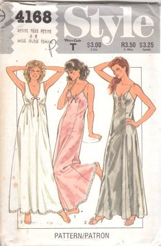 Style 4168 1980s Misses Set of Nightgowns Pattern by mbchills