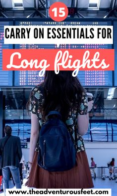 15 Carry on essentials for long flights - Planning to go for a long flight? Here is everything you need to have in your carry on. Carry On Bag Essentials, Airplane Essentials, Travel Essentials, Packing List For Travel, Travel Tips, Packing Lists, Travel Hacks, Travel Pro, Air Travel