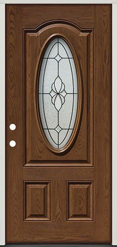 Pre finished Oak Fiberglass Double Doors Star Oval 16 another