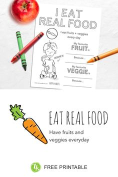 How Eating Real Food Makes Us Happier Eat Fruit, Fresh Fruit, Fruits And Veggies, Real Food Recipes, Bodies, Free Printables, Explore, Feelings, My Favorite Things