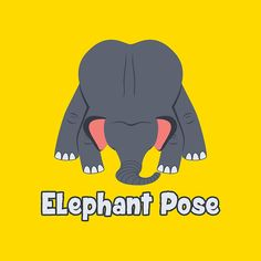 Animal Yoga Elephant Pose. Check out all the Animal Yoga products at redbubble.com