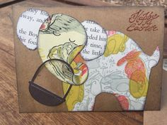 Elephant Easter Card by Cards4Charlie on Etsy