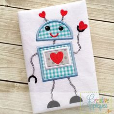 Robot Valentine Applique