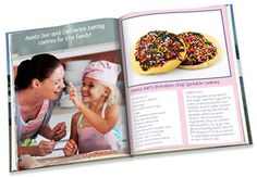 A personalized recipe book cooks up the fun. Make a photo cookbook or a personalized family recipe book filled with recipes and photos. Make Your Own Cookbook, Making A Cookbook, Create A Cookbook, Family Recipe Book, Recipe Books, Homemade Gifts, Diy Gifts, Cookery Books, Wrap Recipes