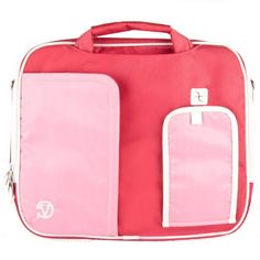 PINDAR Messenger Shoulder Carrying Bag Durable Case (Pink Trim) For Coby Electronics TF-DVD1021 10-Inch Portable DVD Player The Pindar Messenger Shoulder Bag was build Stylish, Slim and Protective.. Featured with well-knit dual zippers for hassle free easy access to all compartments. Includes a removable padded shoulder strap.. Made out of High Quality Durable water-resistant nylong material that ... #Vangoddy #CE