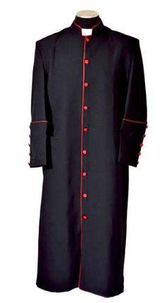 New Black Red Clergy Cassock Robe Pastor Preacher Minister Reg Long Sizes | eBay 149.99
