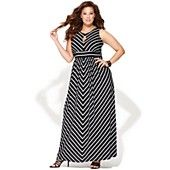 INC International Concepts Plus Size Dress, Sleeveless Striped Maxi  Just bought it.  This is sooooo flattering!