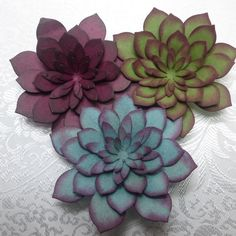 Giant Paper Flowers, Diy Flowers, Flower Ideas, Paper Succulents, Card Tricks, Flower Market, Scrapbooking, Cool Cards, Flower Cards