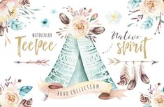 Native spirit. Watercolor collection by Peace ART on @creativemarket