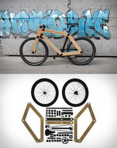 Flat Packed Wooden Bicycle : WOW end ECO :)