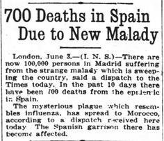 Found in The Oregon Daily Journal in Portland, Oregon on Mon, Jun 3, 1918. Influenza spreads in Spain