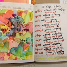 LOVE  10 Ways to Love (Bible verses)