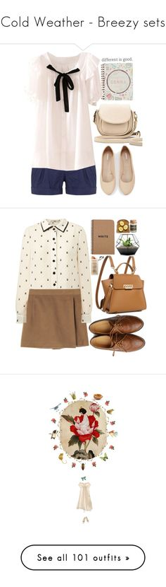 """""""Cold Weather - Breezy sets"""" by cristeen97 ❤ liked on Polyvore featuring Summer, Spring, outfits, Joie, Express, BeiBaoBao, Orla Kiely, Ollio, ZAC Zac Posen and Brika"""