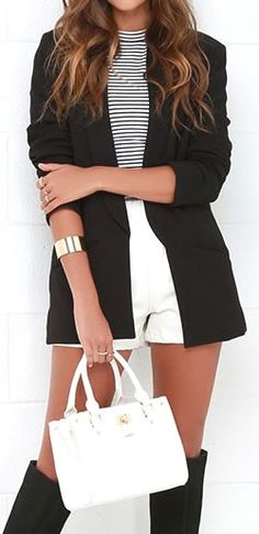 VERSATILE BLACK BLAZER - Great with slacks, skirts, dresses and jeans! ★