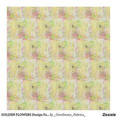 GOLDEN FLOWERS Design Fabric
