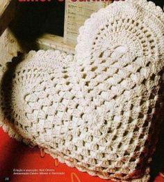 Crochet Heart Shaped Pillow
