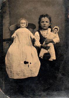 Creepy dolls, creepier kid