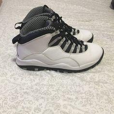879b2451a9dae0 Rare FTSS SAMPLE Nike Air Jordan 10 (X) Light Steel 310805101 Size 9 ...