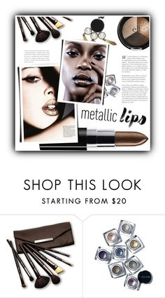 """Shine on: Metallic Lips"" by meyli-meyli ❤ liked on Polyvore featuring beauty, Borghese, Bobbi Brown Cosmetics, H&M and metalliclips"