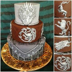 Sunday Sweets: Cakes of Thrones — Cake Wrecks Game Of Thrones Kuchen, Game Of Thrones Theme, Cake Wrecks, Game Of Thrones Anniversaire, Gorgeous Cakes, Amazing Cakes, Cake Games, Novelty Cakes, Fancy Cakes