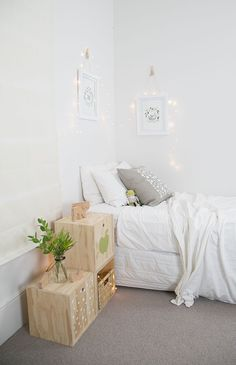 Belle Hawk // printed and ply accessories - New Zealand. Available online // Photography by Hello Petal Photography // as featured on Studio Home Scandinavian Bedroom, Home Studio, Kid Spaces, Wood Design, Interior And Exterior, Designer, Sweet Home, New Homes, Side Tables