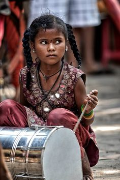 Young Drummer in India