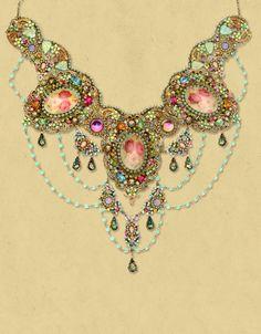 Lace Choker Necklace (m. Negrin)