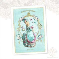 Marie Antoinette Greeting Card High Tea Birthday by mulberrymuse,