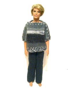 Knitted Reversible Shirt and Pants for Ken by KaibrecadKreations, $15.00