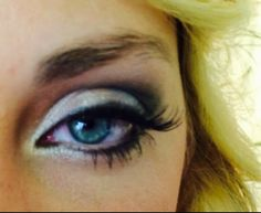 I did this look using eyeshadow pigments in black, gray,  blue shimmers along with highlighters.
