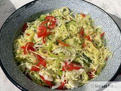 nyári édes-savanyú saláta Cabbage, Vegetables, Recipes, Food, Recipies, Cabbages, Hoods, Vegetable Recipes