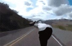 Hold my beer while I skateboard down a mountain through traffic.