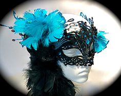 Peacock Rhinestone Masquerade Mask Halloween by Marcellefinery, $65.00