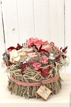 Купить Композиция для интерьера №8 - коралловый, розовый, прованс, декор дома, цветы для дома