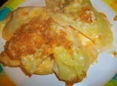 CHEESY ESCALLOPED CABBAGE : Serves 3-4 as a main course, 6-8 as a side ~~