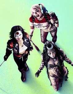 Imagen de suicide squad, harley quinn, and katana
