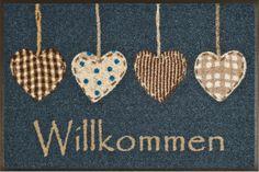 Fußmatte wash+dry Design Cottage Hearts 50x75 cm Wohnwelten Fußmatten waschbare Türvorleger