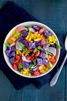Italian Style Purple Potato Salad - CaliZona